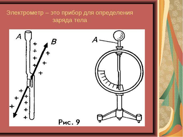Электрометр – это прибор для определения заряда тела