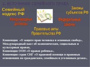 Конвенция «О защите прав человека и основных свобод», Международный пакт об э