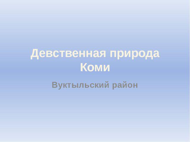 Девственная природа Коми Вуктыльский район