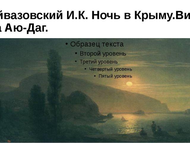 Айвазовский И.К. Ночь в Крыму.Вид на Аю-Даг.