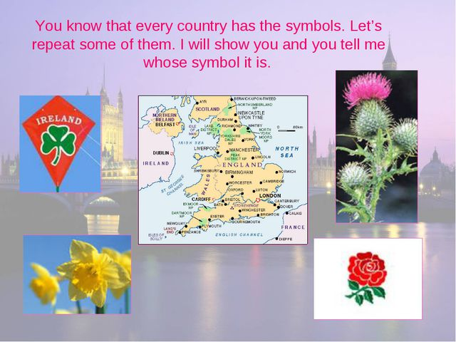 You know that every country has the symbols. Let's repeat some of them. I wil...
