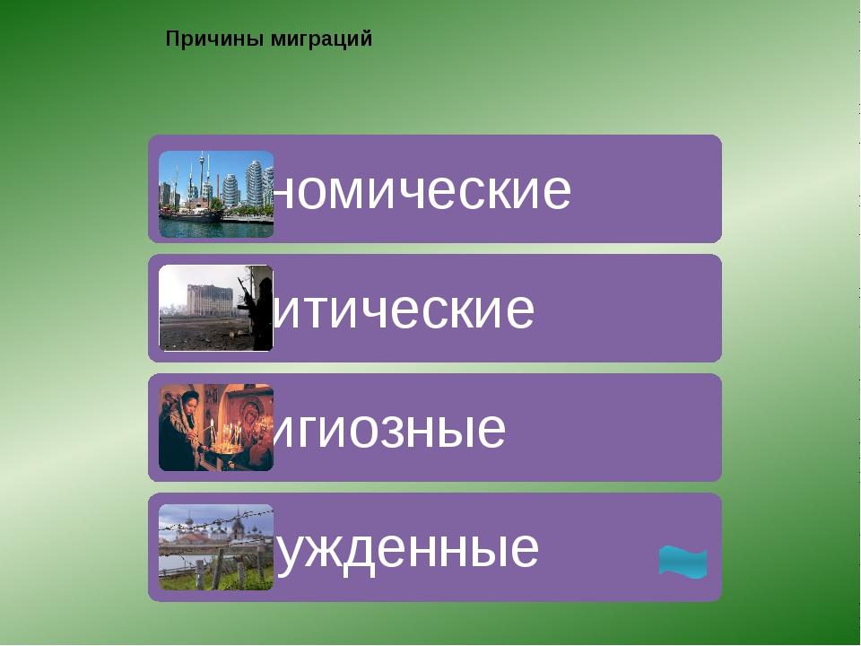 Выявите районы притока и районы оттока населения Миграции населения России за...