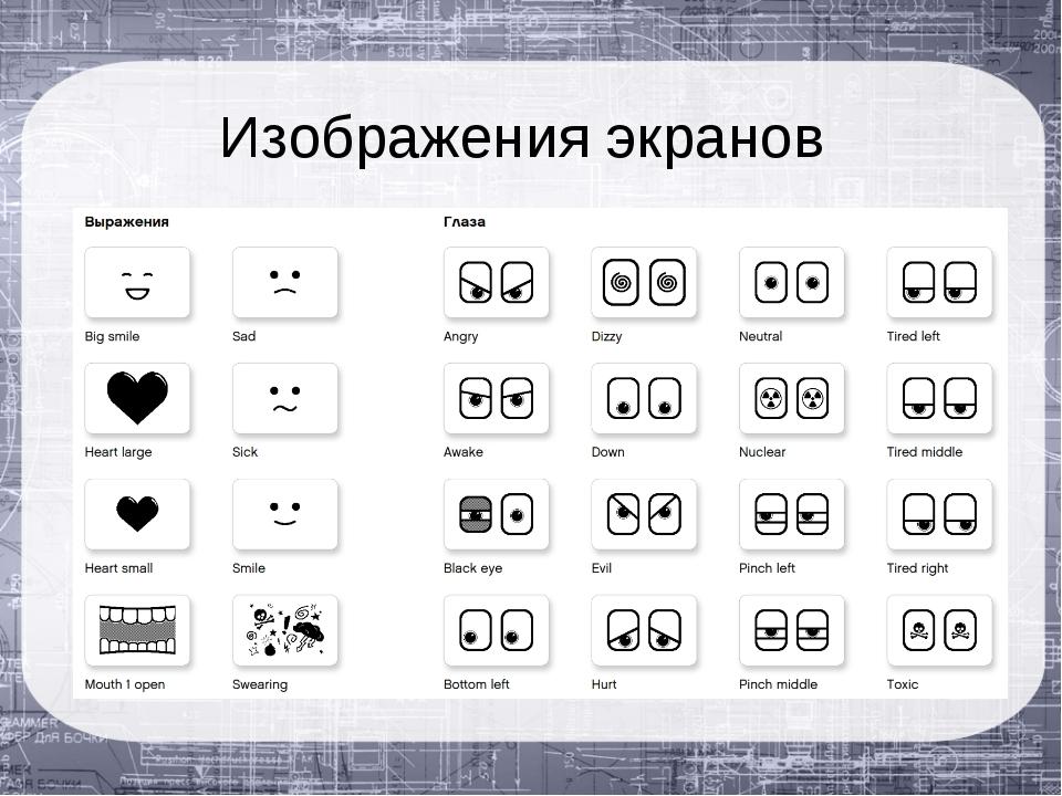 Изображения экранов