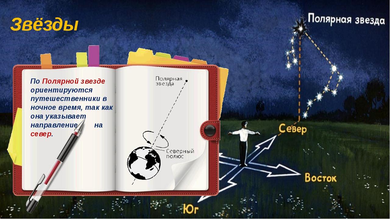Звёзды По Полярной звезде ориентируются путешественники в ночное время, так к...