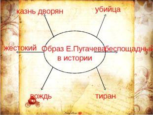 Образ Е.Пугачева в истории жестокий вождь убийца тиран беспощадный казнь дво