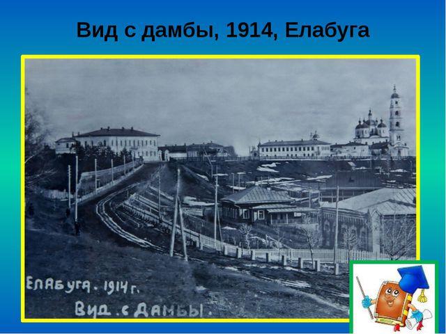 Вид с дамбы, 1914, Елабуга