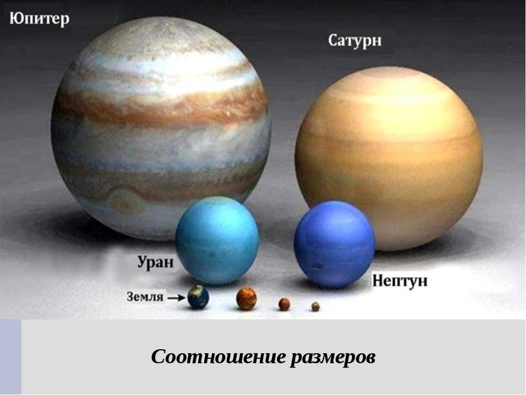 Соотношение размеров