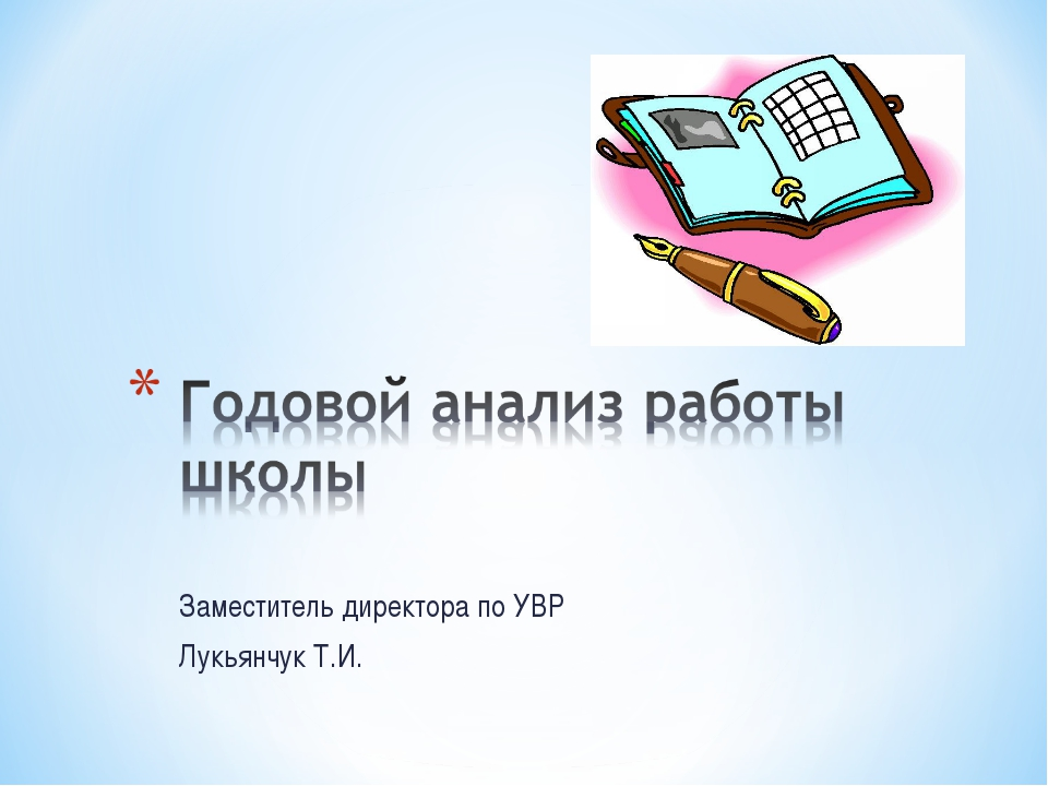 Заместитель директора по УВР Лукьянчук Т.И.