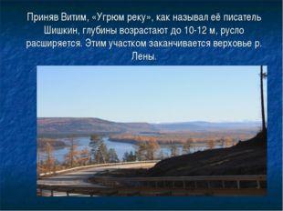 Приняв Витим, «Угрюм реку», как называл её писатель Шишкин, глубины возрастаю