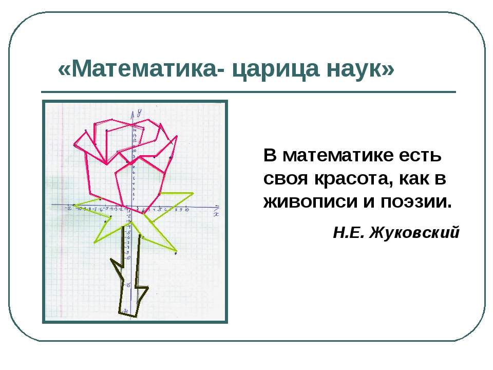 «Математика- царица наук» В математике есть своя красота, как в живописи и по...