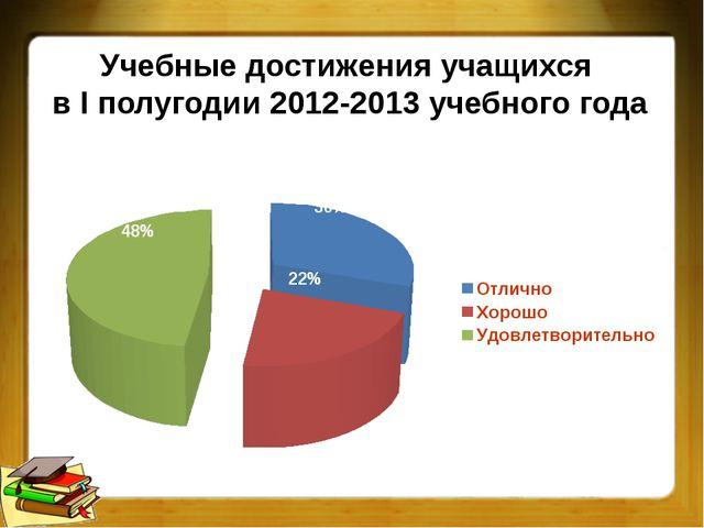 Учебные достижения учащихся в I полугодии 2012-2013 учебного года