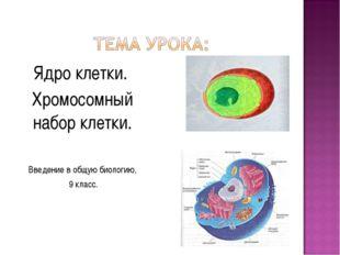 Ядро клетки. Хромосомный набор клетки. Введение в общую биологию, 9 класс.