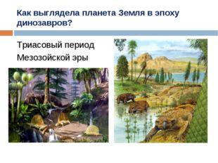 Как выглядела планета Земля в эпоху динозавров? Триасовый период Мезозойской