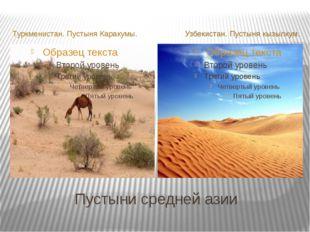 Пустыни средней азии Туркменистан. Пустыня Каракумы. Узбекистан. Пустыня кызы