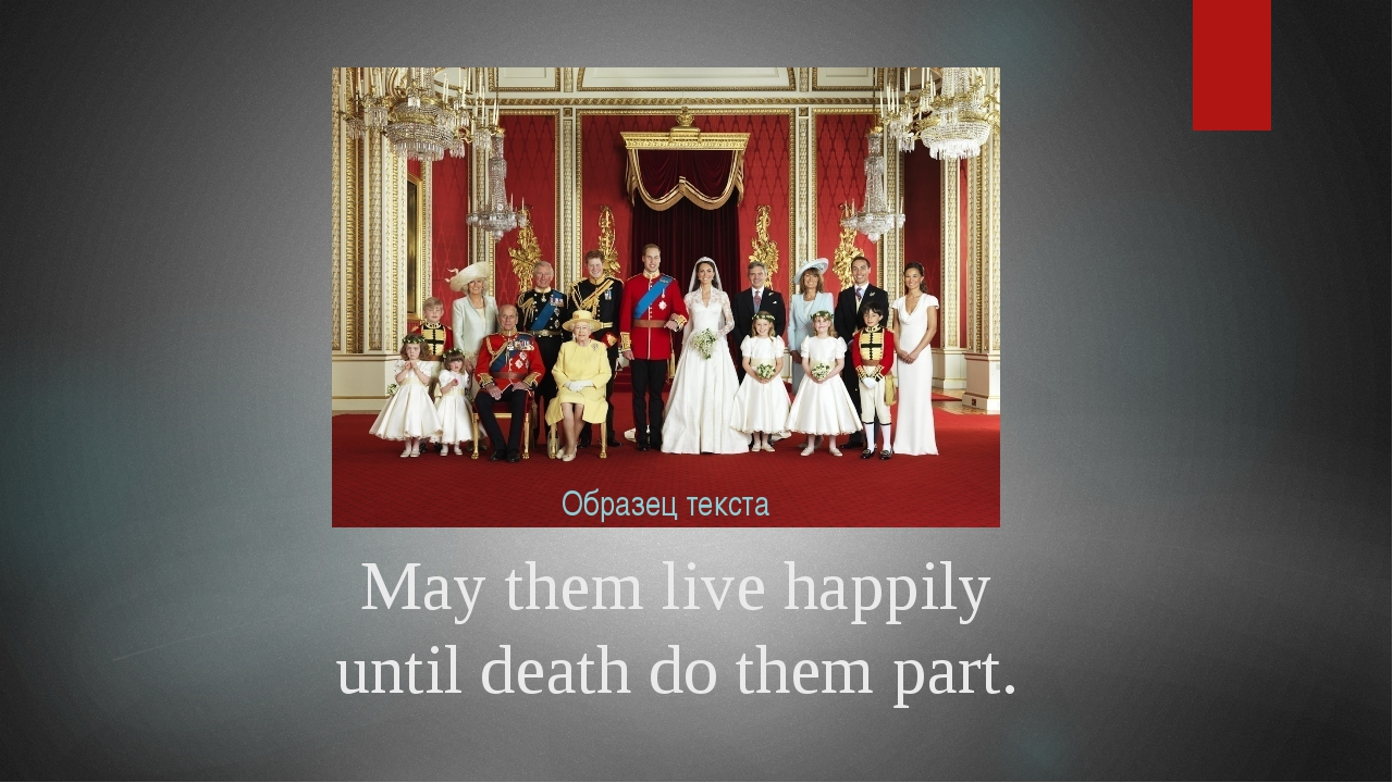 May them live happily until death do them part.