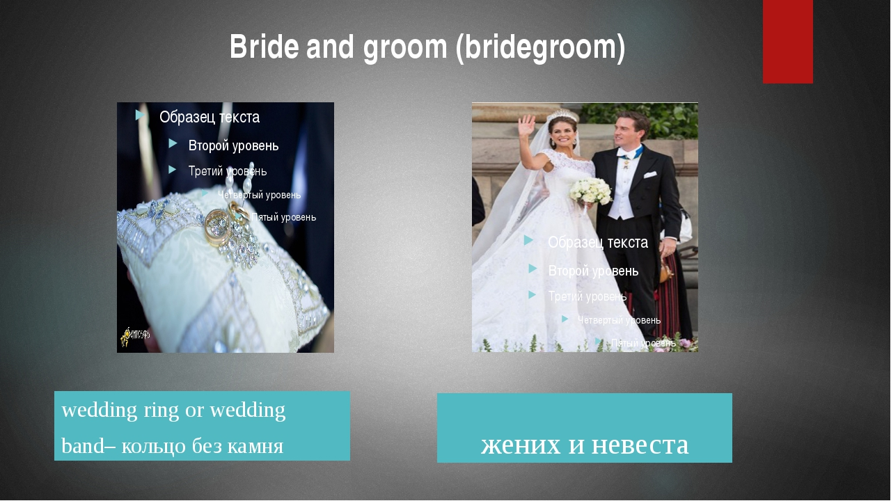 Bride and groom (bridegroom) wedding ring or wedding band– кольцо без камня...