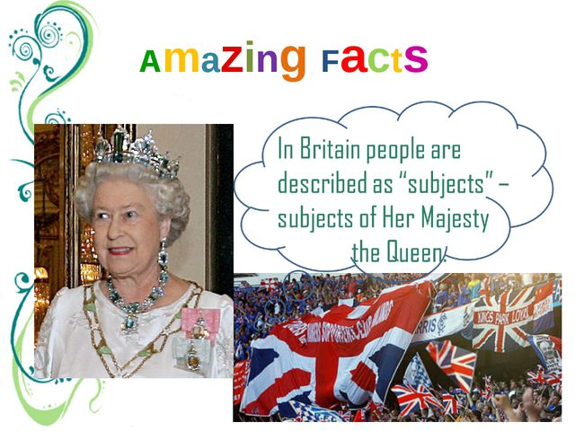 "Amazing Facts Other countries have ""citizens"" (граждане). But in Britain peop..."