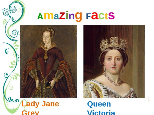 Amazing Facts Lady Jane Grey Queen Victoria It's well-known that Queen Victor...