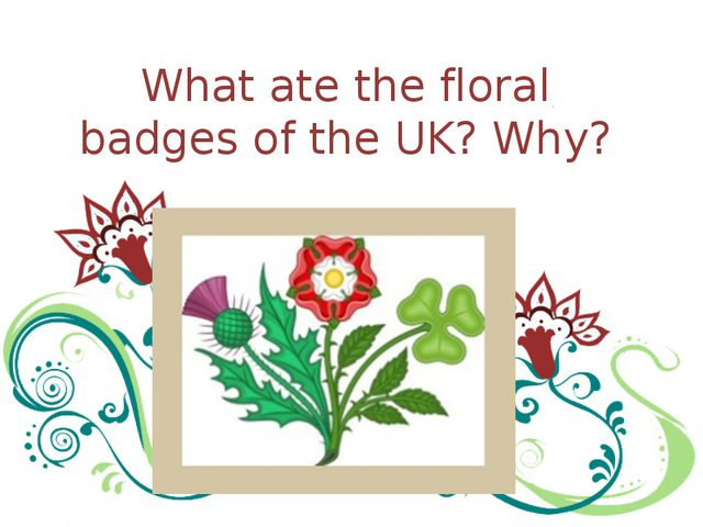 What ate the floral badges of the UK? Why?
