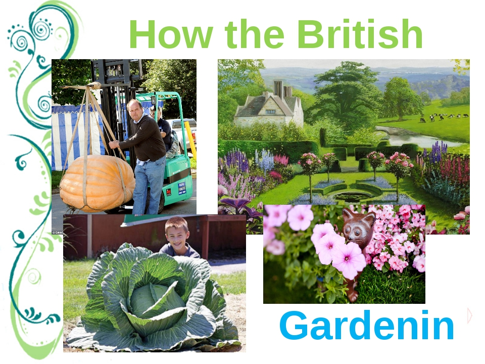 """How the British relax Gardening As British people say, """"all work and no play..."""