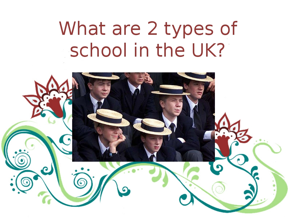 What are 2 types of school in the UK?