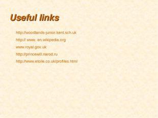 Useful links http://woodlands-junior.kent.sch.uk http:// www. en.wikipedia.or
