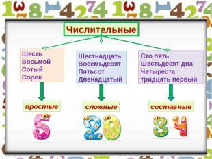 Сто пять Шестьдесят два Четыреста тридцать первый Шесть Восьмой Сотый Сорок Ч