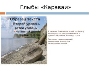 Глыбы «Караваи» В оврагах Ловецкий и Козий по берегу Волгоградского водохрани