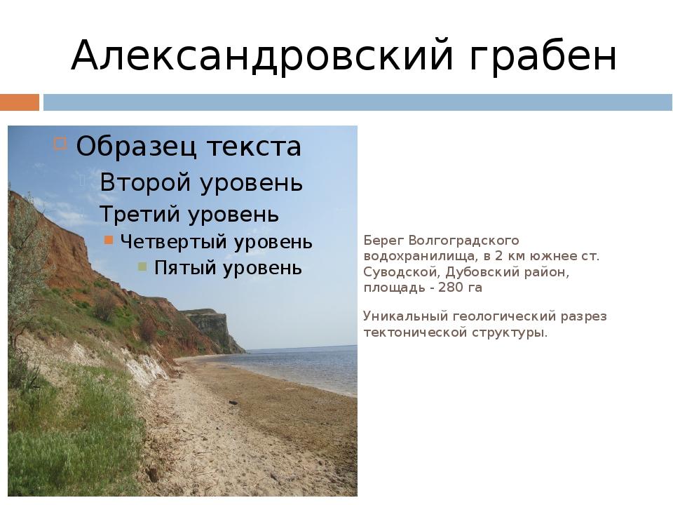 Александровский грабен Берег Волгоградского водохранилища, в 2 км южнее ст. С...