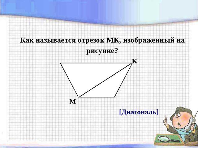 Это интересно Диагональ – это отрезок, соединяющий две не соседние вершины че...