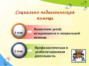 Выявление детей, нуждающихся в специальной помощи Социально-педагогическая п