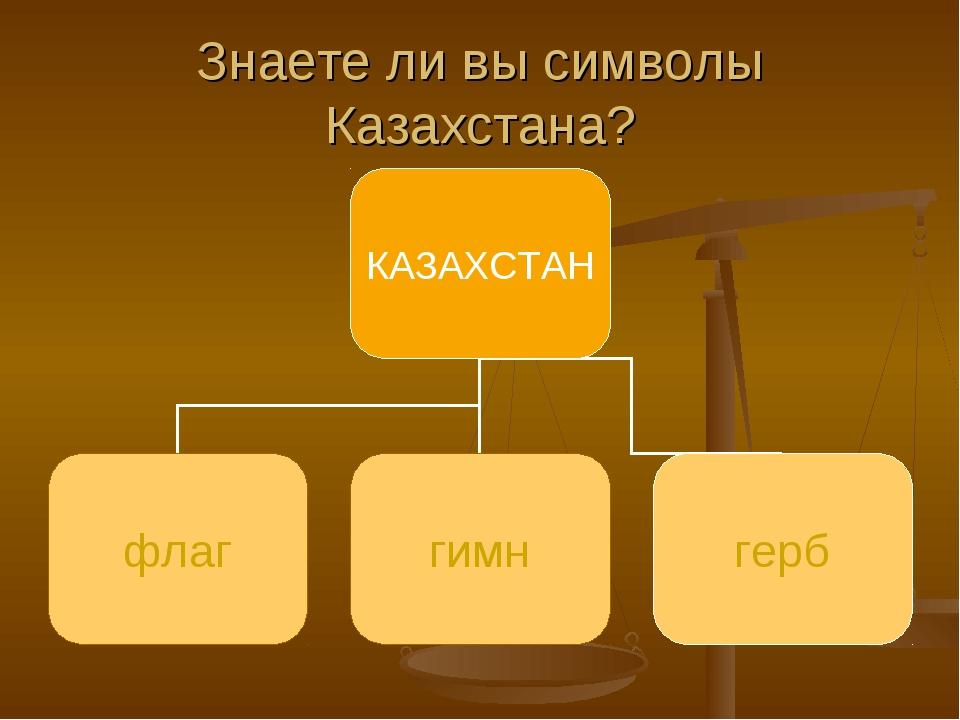 Знаете ли вы символы Казахстана?