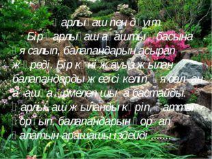 Қарлығаш пен дәуіт. Бір қарлығаш ағаштың басына ұя салып, балапандарын асырап