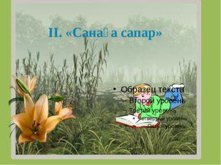 ІІ. «Санаға сапар»