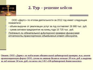 Ответ: ООО «Дартс» не подлежит обязательной аудиторской проверке, т.к. имеет