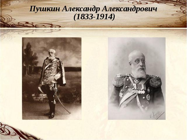Пушкин Александр Александрович (1833-1914)