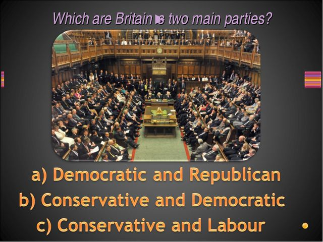 Which are Britain's two main parties?