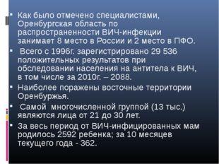 Как было отмечено специалистами, Оренбургская область по распространенности В