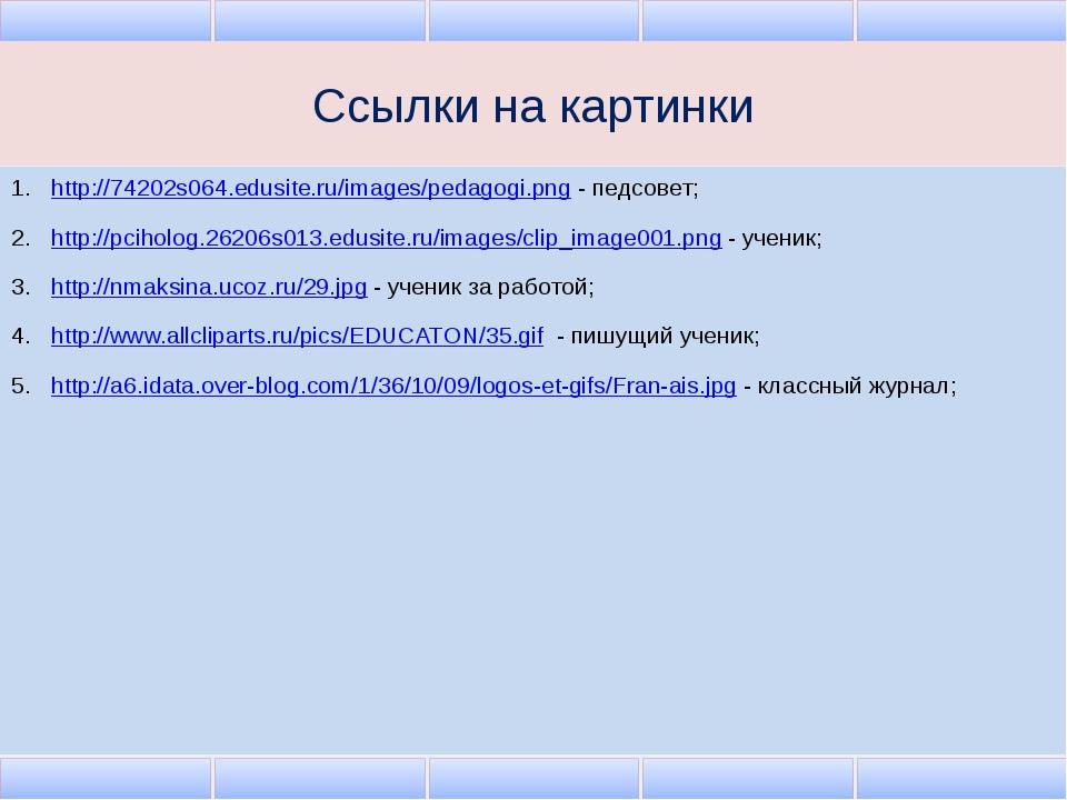 Ссылки на картинки http://74202s064.edusite.ru/images/pedagogi.png - педсовет...