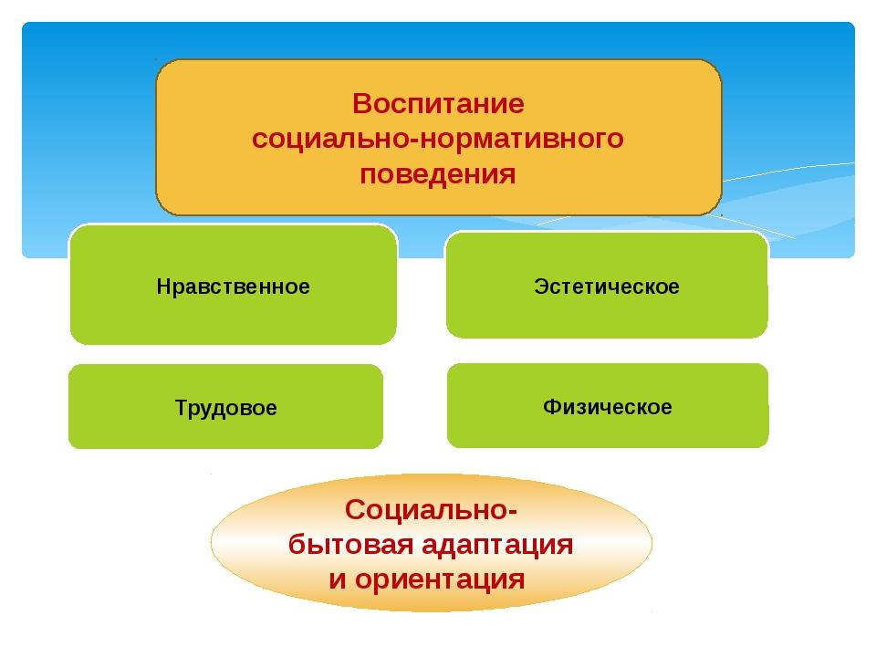 Нравственное Эстетическое Трудовое Физическое Воспитание социально-нормативн...