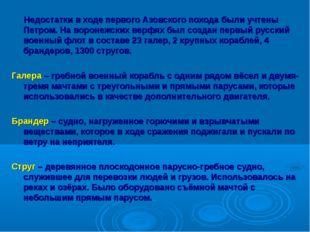 Недостатки в ходе первого Азовского похода были учтены Петром. На воронежски