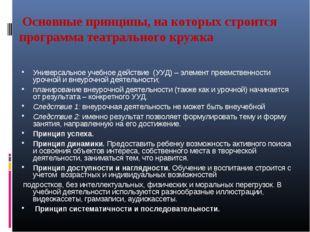 Основные принципы, на которых строится программа театрального кружка Универс