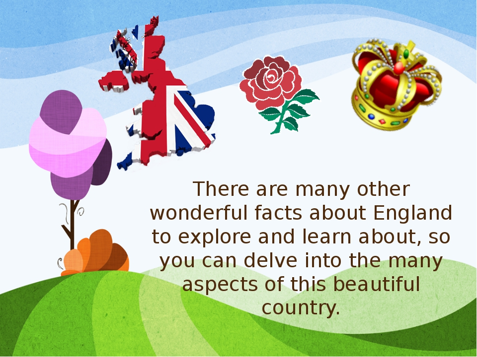 There are many other wonderful facts about England to explore and learn about...