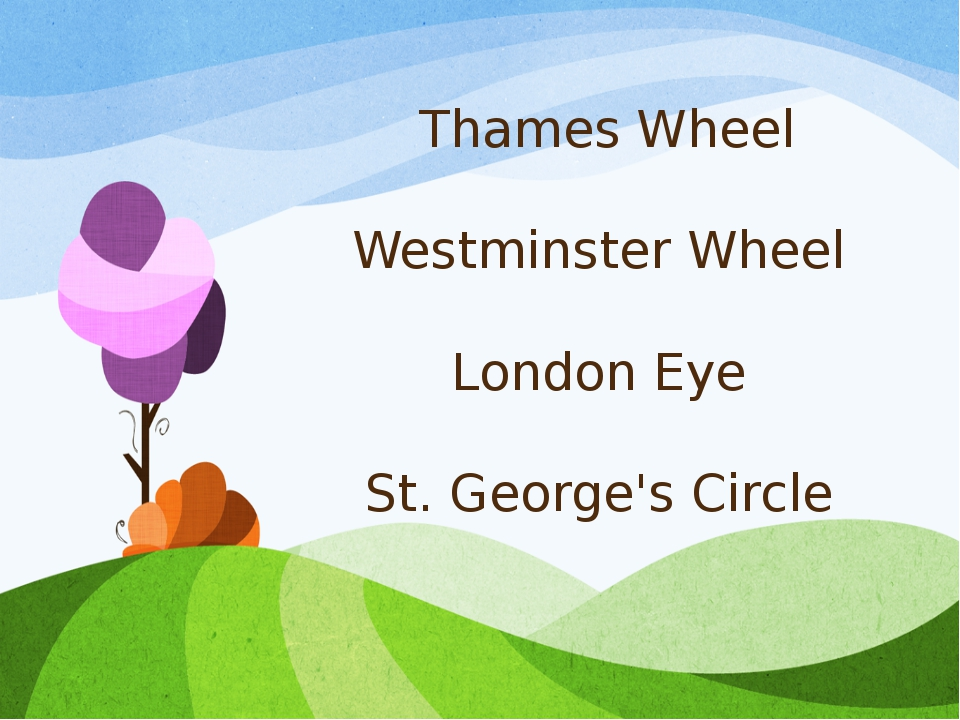 Thames Wheel Westminster Wheel London Eye St. George's Circle