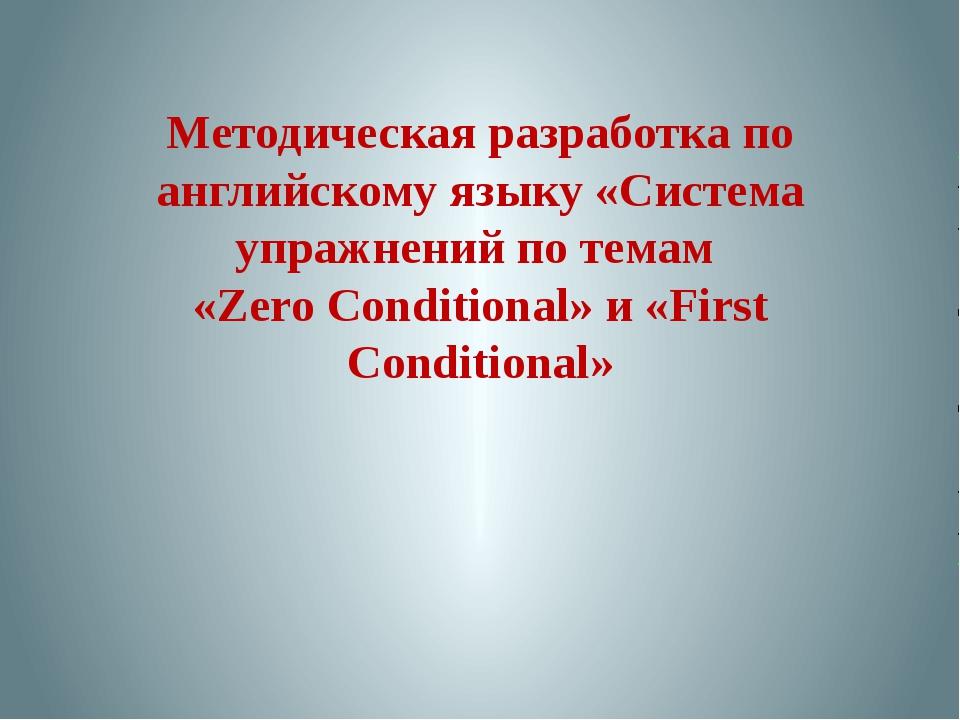 Методическая разработка по английскому языку «Система упражнений по темам «Ze...