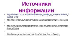 Источники информации http://fialka33.ucoz.ru/publ/volshebnaja_istorija_o_proi