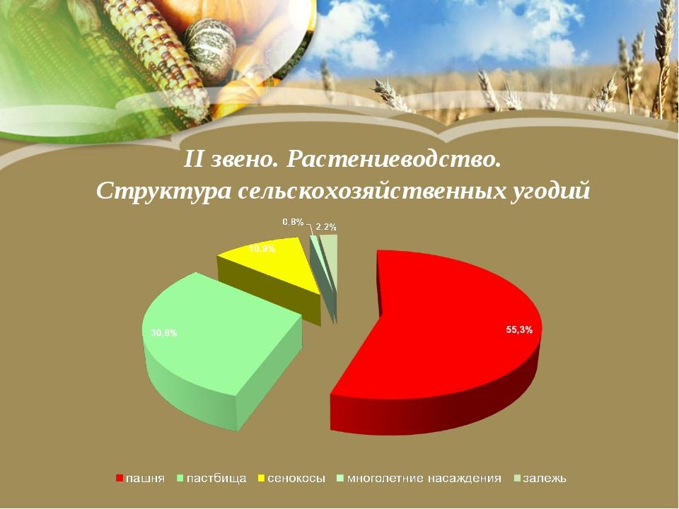 II звено. Растениеводство. Структура сельскохозяйственных угодий