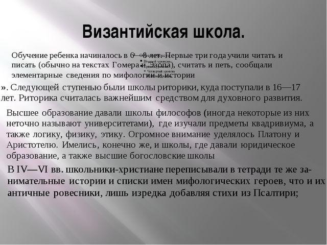 Византийская школа.