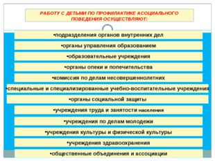 РАБОТУ С ДЕТЬМИ ПО ПРОФИЛАКТИКЕ АСОЦИАЛЬНОГО ПОВЕДЕНИЯ ОСУЩЕСТВЛЯЮТ: комиссия