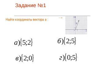 Задание №1 Найти координаты вектора а :
